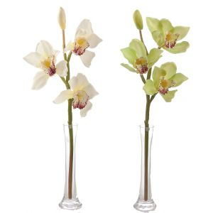 Cymbidium Real Touch Orchid Spray x 3 - 2296WWH
